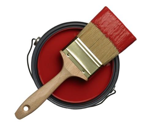 paint brush red